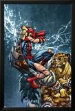 Avenging Spider-Man No.3 Cover: Spider-Man Fighting Poster von Joe Madureira