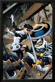 Avengers Academy No.9 Cover: Finesse and Task Master Fighting Lamina Framed Art PrintMike McKone