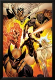 Astonishing X-Men No.35: Storm, Cyclops, Armor, Beast, Wolverine, Frost Posters av Phil Jimenez