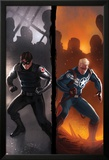 Captain America No.619 Cover: Winter Soldier and Steve Rogers Standing Ready Affiches par Marko Djurdjevic