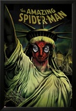 The Amazing Spider-Man No.666 Cover: Spider-Man Painted on the Statue of Liberty Posters par Mike Del Mundo