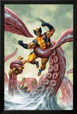 Wolverine/Hercules: Myths, Monsters & Mutants No.4 Cover: Trapped by a Sea Monster Posters av Joe Jusko
