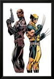 Wolverine 3 Cover: Nick Fury, Wolverine Affiches par Alan Davis