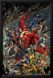 Age of Ultron 5 Cover: Red Hulk, Captain America, Storm, Iron Man, Moon Knight, Hawkey, Wolverine Láminas por Bryan Hitch