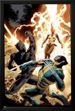 Wolverine 8 Cover: Wolverine, Storm, Black Panther Affiches par Alan Davis