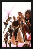 Squadron Supreme 1 Cover with Blur, Doctor Spectrum, Nighthawk, Warrior Woman, Hyperion, Thundra Poster av Alex Ross