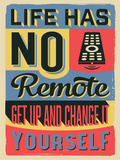 Get Up and Change Yourself Targa di plastica di  Vintage Vector Studio