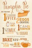 Pumpkin Pie Recipe Muovikyltit tekijänä  Lantern Press