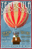 Temecula, California - Balloon Tours Muovikyltit tekijänä  Lantern Press