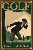 Golf - Drive and Go Seek Wall Mural by  Lantern Press