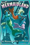 Mermaid - Vintage Sign Signe en plastique rigide par  Lantern Press