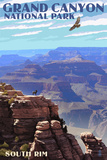 Grand Canyon National Park - South Rim Plastic Sign by  Lantern Press