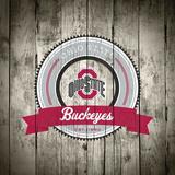 Ohio State Buckeyes Logo on Wood Posters af  Lulu