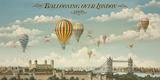 Ballooning Over London Reproduction procédé giclée par Isiah and Benjamin Lane