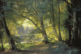 The Deer Park Giclée-tryk af Carl Frederic Aagaard