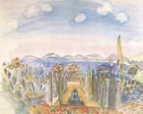 Baie des Anges, Nice Giclee-trykk av Raoul Dufy