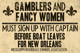 Gamblers and Fancy Women Sign Up Vintage New Orleans Poster Láminas
