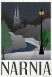 Narnia Retro Travel Poster Foto