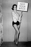 Not Your Bitch Pinup Funny Poster Poster von  Ephemera