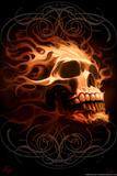 Fire Skull Affiche par Tom Wood