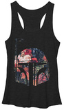 Juniors Tank Top: Star Wars- Floral Fett レディースタンクトップ