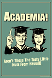 Academia Tasty Nuts From Hawaii Funny Retro Poster Posters af  Retrospoofs