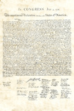 Declaration of Independence Authentic Reproduction Sepia Art Poster Print Plakater