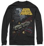 Longsleeve: Star Wars- Falcon Escape 長袖Tシャツ