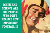 Math Science For People Who Don't Appreciate Football Funny Poster Plakater af  Ephemera
