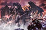 Dragon noir Posters par Tom Wood