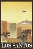 Los Santos Retro Travel Poster Foto
