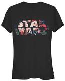 Women's: Star Wars- Antique Flowers Logo T-Shirts