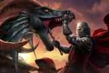 Tueur de dragon Posters par Tom Wood