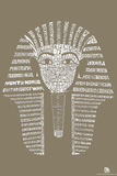 King Tut Text Poster Posters