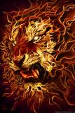 Fire Tiger Posters par Tom Wood