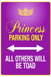 Princess Parking Only Purple Sign Poster Print Foto