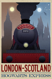 London- Scotland Hogwarts Express Retro Travel Poster Prints