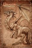 Dragon Parchment Posters par Tom Wood