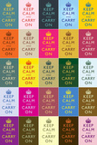Keep Calm and Carry On Colorful Collage Poster ポスター