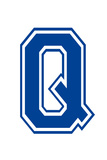 Varsity Letter Q Make Your Own Banner Sign Poster Affischer