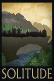 Solitude Retro Travel Poster Poster