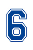 Varsity Number 6 (Six) Make Your Own Banner Sign Poster Posters