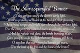 Star-spangled Banner Lyrics Poster Fotografía