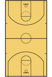 Basketball Court Layout Sports Poster Plakater