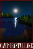 Camp Crystal Lake Retro Travel Poster Poster
