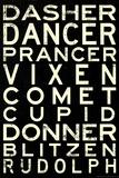 Reindeer Names Affiche