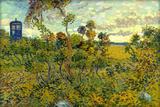 Vincent Van Gogh Tardis at Montmajour Poster Posters