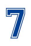Varsity Number 7 (Seven) Make Your Own Banner Sign Poster Foto