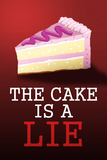 The Cake is a Lie Portal Video Game Poster Print Stampa