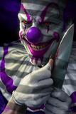 Mischief the Clown Affiches par Tom Wood